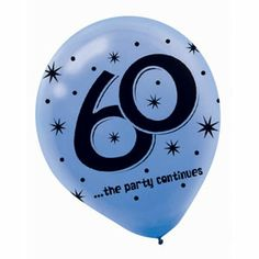 "The Party Continues - 60 12"" Latex Balloons"
