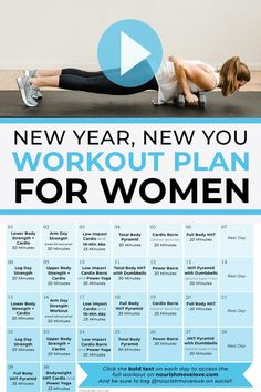 Get fit at home with this FREE Workout Plan For Women! 30 days of guided workout videos, and all you need are a set of dumbbells and minutes a day to complete these full body workouts you can do anywhere! Free Workout Plans, Workout Plan For Women, At Home Workout Plan, At Home Workouts, Body Workouts, Cardio Barre, Hiit, Pilates, Training Programs