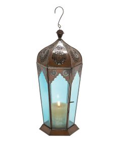 Aqua Glass Lantern   Daily deals for moms, babies and kids