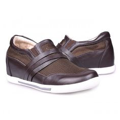 Men Casual Shoes - Brown men height increase casual shoes can be taller 7cm / 2.75inches with the SKU: MENJGL_A889_2 at Tooutshoes online store