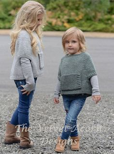 Odila Cape Pullover Knitting pattern by The Velvet Acorn Baby Knitting Patterns, Knitting For Kids, Knitting Projects, Crochet Baby, Knit Crochet, Velvet Acorn, Baby Sweaters, Girl Fashion, Clothes