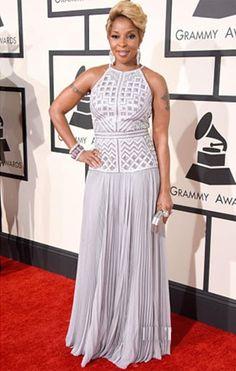 Grammy 2015 - Mary J. Blige de J. Mendel
