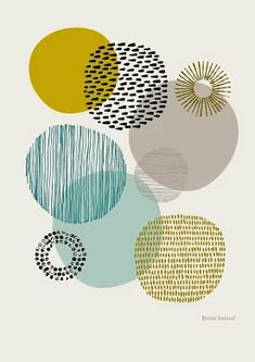 Sort Of Circles Open Edition Giclee Print Etsy - Sort Of Circles Is A Print Based On My Textural Drawings Of Circular Shapes The Emphasis Is Very Much On Colour And Pattern And Their Relationships To Each Other Colours Used In This Print Include Poster Pictures, Wall Pictures, Poster Wall, Poster Paint, Picture Wall, Photo Wall, Printmaking, Canvas Wall Art, Illustration Art