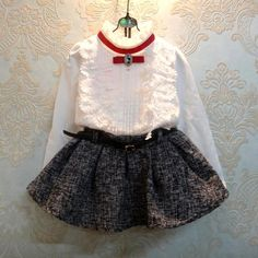 Aliexpress.com: Compre 2015 primavera e outono crianças conjuntos de roupas de moda meninas blusas + saia roupas Set bebés meninas conjuntos de roupas C10 de confiança presentes irmãos fornecedores em junhao Co. Ltd