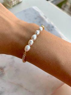 Freshwater Pearl Bracelet – Pearl Bar Bracelet – Delicate Pearl Bracelet – Pearl Jewelry – Pearl Bracelet Gold – Gold Dainty Bracelet P - Suzy's Fashion - - Crystal Jewelry, Beaded Jewelry, Silver Jewelry, Vintage Jewelry, Fine Jewelry, Handmade Jewelry, Silver Ring, Silver Earrings, Dior Earrings