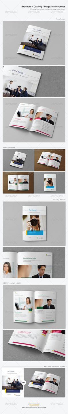 Brochure / Catalog / Magazine Mockups