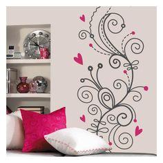 Quieres darle un aspecto floral y romántico a la decoración de paredes ?. En Vinilos Casa ® te proponemos este exclusivo vinilo floral, ideal para darle un toque romántico y floral a la decoración de paredes, decoración de cristales.