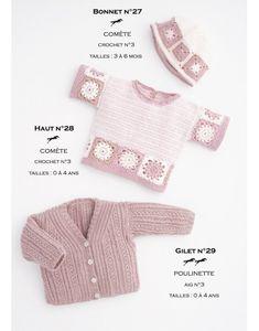 Modèle haut CB16-28- Patron tricot gratuit