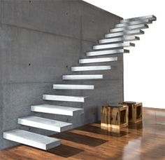RoomStone® - Exklusives aus Sichtbeton, Freitragende Kragstufentreppe, Hochleistungsbeton, Glasfaserbeton