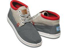 Grey Color Block Youth Botas | TOMS.com