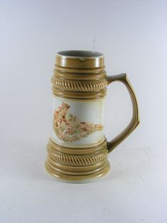Vintage CP Lettin 15 Germany German Hunting Beer Stein Ceramic Beer Mug 8 x 4 inch by VintageshopSerbia on Etsy