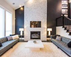 fireplace fascia stone - Google Search