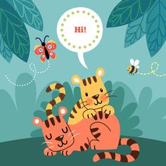 Wall Art Print - Tigers