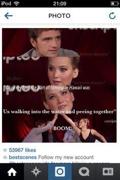 Hunger games funny katniss Jennifer Lawrence is hilarious