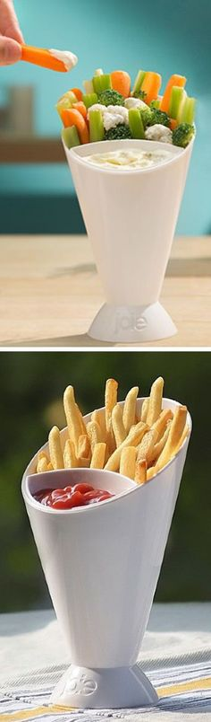 A fun & easy way to serve french fries or veggies or any tasty finger foods