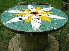 spool table for patio ... totally want!