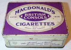 MacDonald's BRITISH CONSOLS cigarettes