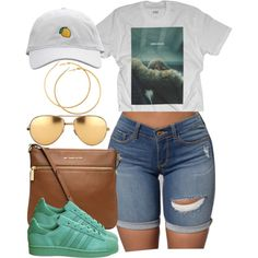 A fashion look from August 2016 featuring adidas sneakers, MICHAEL Michael Kors bags y H&M earrings. Browse and shop related looks.