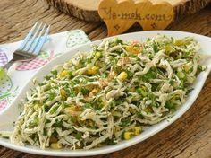 Yeşillikli Tavuk Salatası Resimli Tarifi - Yemek Tarifleri