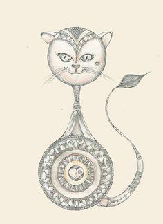 Zentangle Cat ♥