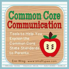 Explaining the CCSS to parents - FREE!