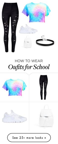 Cute and you can wear it to school by sage-stephenson on Polyvore featuring WithChic, NIKE and Mansur Gavriel