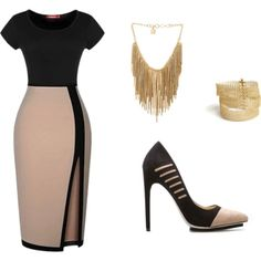 A fashion look from December 2014 featuring Shoedazzle pumps,YooLa bracelets and BCBGMAXAZRIA necklaces. Browse and shop related looks.
