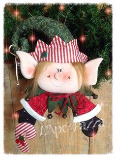 Cartamodelli Babbi Natale ed Elfi 2014 : Cartamodello Elfo Pistillo