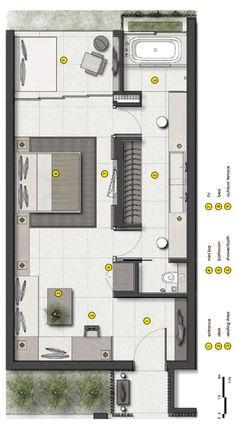 habitaciones de hotel URBNarc Pte Ltd - Alila Seminyak, Bali Master Bedroom Plans, Master Bedroom Layout, Bedroom Floor Plans, Bedroom Layouts, House Layouts, House Floor Plans, The Plan, How To Plan, Casa Kardashian