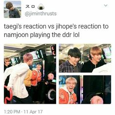 Taegi is amazed while the dancers are just laughing