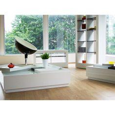 Etagère Noire et Blanche laquée BROOKLYN - Maison Facile : www.maison-facile.com