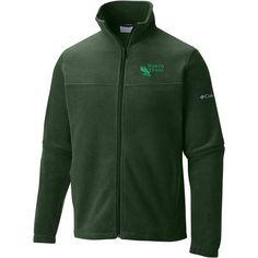 Columbia Sportswear Men's University of North Texas Flanker Full Zip Fleece (Green, Size Medium) - NCAA Licensed Product, NCAA Men's Fleece/Jackets...