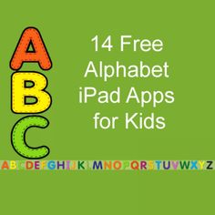 14 Free Alphabet iPad Apps for Kids