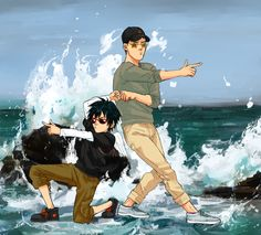 I saw this on my sister's board and had to pin it.  It's Hiro and Tadashi from big hero 6 and I just love it!!!