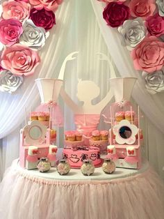 Just look at this adorable Ballerina Dessert table! It's amazing!!! See more party ideas and share yours at CatchMyParty.com