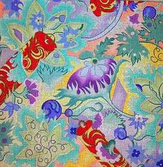 Vibrant Jacobean Floral *Hand Painted* Needlepoint Canvas
