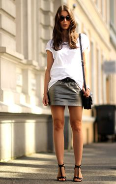 Perforated Leather Skirt by Proenza Schouler | How to wear a ...