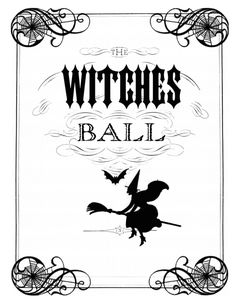 witches ball invite - Halloween