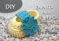 Patron Gratis Zapatito para Bebé a Crochet AQUA (0 a 3 meses) Image
