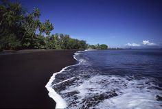 The black beach in Papeete, Tahiti where we spent an afternoon before our flight left.