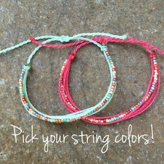 1 Rainbow Beaded Bracelet - Custom String, Three Sisters Bracelets, String Bracelets, Stackable Bracelet, gift for Girls Diy Jewelry, Beaded Jewelry, Jewelry Making, Beaded Bracelets, String Bracelets, String Friendship Bracelets, Summer Bracelets, Jewlery, Gold Circle Necklace