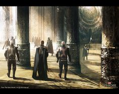 Beauty Of Asgard Displayed In THOR: THE DARK WORLD Concept Art by Bob Cheshire