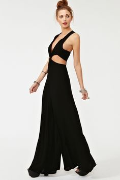 951a199829f4 Beautiful Colours Jumpsuit - I wonder if I could pull this off. Black  Jumpsuit