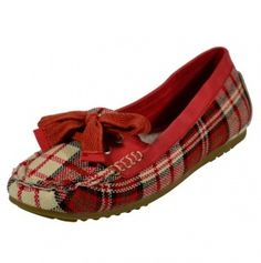 Plaid Loafer with a Bow.