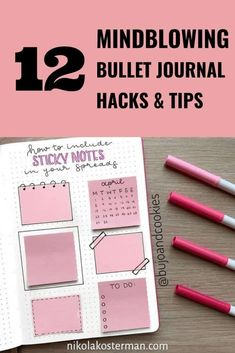 12 Bullet Journal Hacks that Actually Work - Raise your hand if you have an obsession with Bullet Journaling?! If you raised your hand (and I'm assuming you did since you landed on this blog post) then I have some incredible hacks for you.