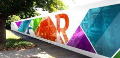 Museum Hoarding Design on Behance Web Banner Design, Banner Design Inspiration, Office Graphics, Window Graphics, Event Signage, Wayfinding Signage, Environmental Graphics, Environmental Design, Hoarding Design