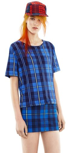 acne studios featuring tartan this AW