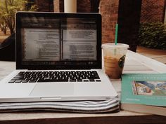 mydeepest-fear: Studying outside for finals makes it slightly more tolerable. The coffee helps a lot too.