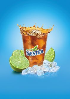 Nestea // Servido on Behance Food Graphic Design, Food Poster Design, Creative Poster Design, Ads Creative, Creative Posters, Creative Advertising, Menu Design, Advertising Design, Advertising Poster