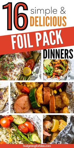 Foil Packet Dinners, Foil Pack Meals, Foil Dinners, Best Summer Salads, Summer Salad Recipes, Quick Meals For Kids, Quick Easy Meals, Chicken Foil Packets, Dinner With Ground Beef